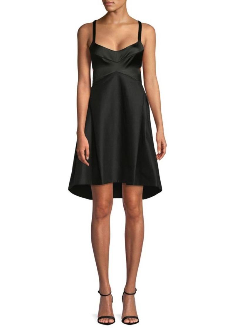 Halston Heritage Sleeveless A-Line Dress