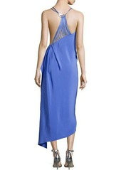 Halston Heritage Sleeveless Asymmetric Strappy Dress
