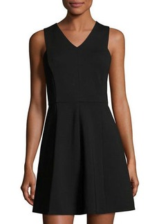 Halston Heritage Sleeveless Back-Cutout Fit & Flare Dress