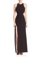 Halston Heritage Sleeveless Back Cutout Gown