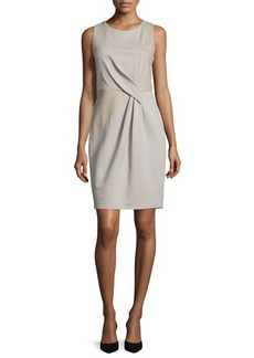 Halston Heritage Sleeveless Combo Sheath Dress