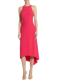 Halston Heritage Sleeveless Crepe Dress