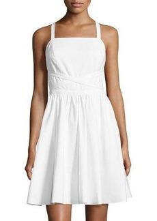 Halston Heritage Sleeveless Crisscross-Tie Dress
