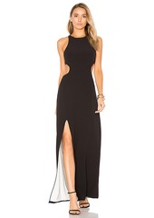 Halston Heritage Sleeveless Cut Out Gown in Black. - size 2 (also in 4,8)