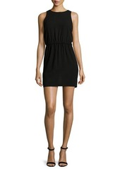 Halston Heritage Sleeveless Cutout-Back Mini Dress