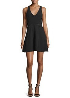 Halston Heritage Sleeveless Embellished Fit-&-Flare Dress