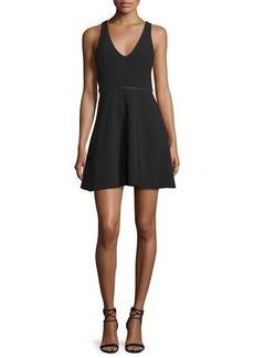 Halston Heritage Sleeveless Embellished Fit-&-Flare Dress