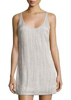 Halston Heritage Sleeveless Embellished Shift Dress