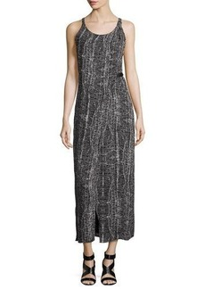 Halston Heritage Sleeveless Faux-Wrap Day Dress