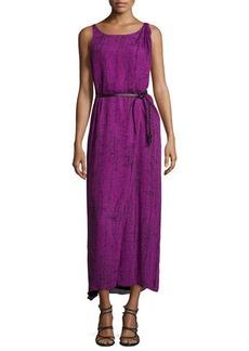 Halston Heritage Sleeveless Faux-Wrap Maxi Dress
