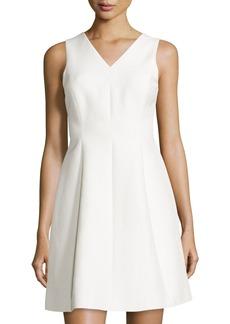 Halston Heritage Sleeveless Fit-&-Flare Dress