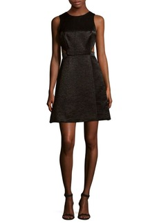 Halston Heritage Sleeveless Fit-&-Flare Dress