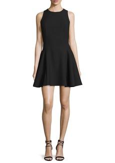 Halston Heritage Sleeveless Fit-&-Flare Mini Dress