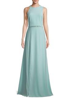 Halston Heritage Sleeveless Floor-Length Gown