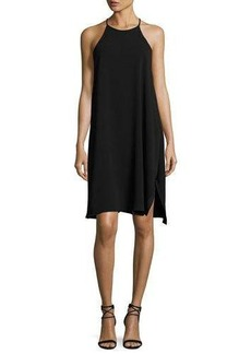 Halston Heritage Sleeveless High-Neck Flowy Cami Dress