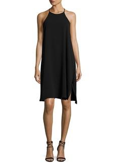 Halston Heritage Sleeveless High-Neck Flowy Cami Dress