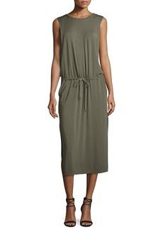 Halston Heritage Sleeveless Jersey Midi Dress