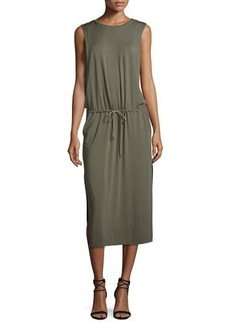 Halston Heritage Sleeveless Jersey Midi Dress