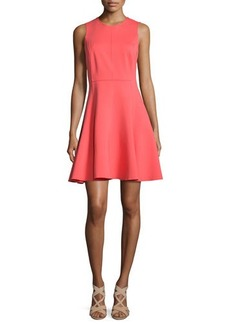 Halston Heritage Sleeveless Jewel-Neck Cutout Party Dress