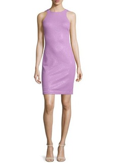 Halston Heritage Sleeveless Jewel-Neck Ponte Dress