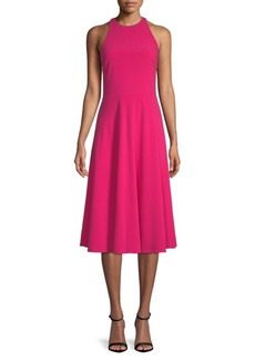 Halston Heritage Sleeveless Midi Dress