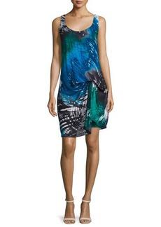 Halston Heritage Sleeveless Printed Sheath Dress