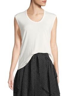 Halston Heritage Sleeveless Round-Neck Easy T-Shirt