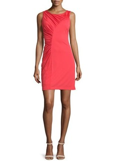 Halston Heritage Sleeveless Ruched Cocktail Dress