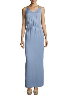 Halston Heritage Sleeveless Scoop-Neck Maxi Dress