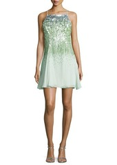 Halston Heritage Sleeveless Sequined Dress