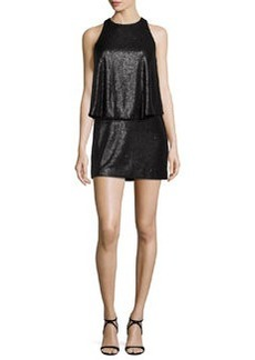 Halston Heritage Sleeveless Sequined Mini Dress