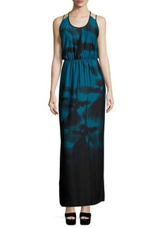 Halston Heritage Sleeveless Strappy-Back Maxi Dress