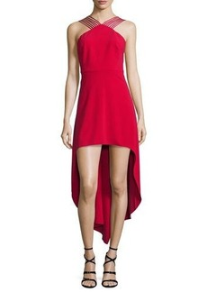 Halston Heritage Sleeveless Strappy High-Low Dress
