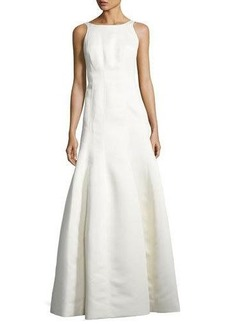 Halston Heritage Sleeveless Structured Ball Gown