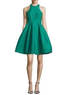 Halston Heritage Sleeveless Structured Faille Tulip Dress