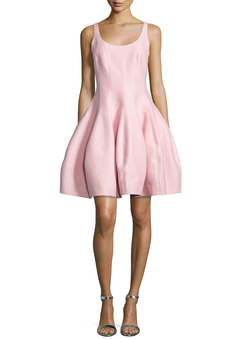 Halston Heritage Sleeveless Structured Fit & Flare Dress