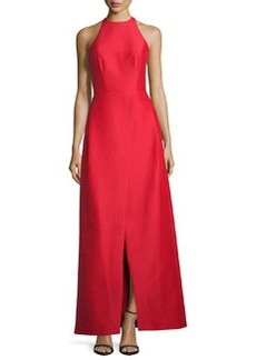 Halston Heritage Sleeveless Structured Taffeta Gown