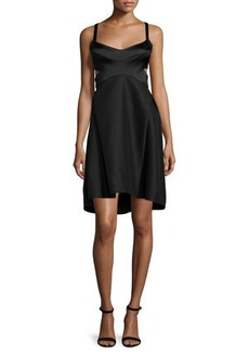 Halston Heritage Sleeveless Sweetheart-Neck Dress