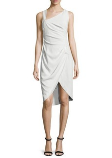 Halston Heritage Sleeveless Tulip-Hem Sheath Dress
