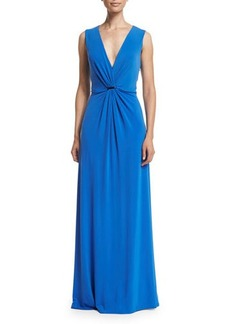 Halston Heritage Sleeveless Twist-Front Gown