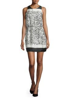 Halston Heritage Sleeveless Two-Tone Mini Dress