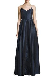 Halston Heritage Sleeveless V-Neck Ball Gown