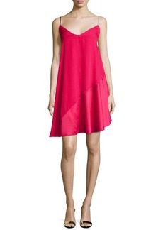 Halston Heritage Sleeveless V-Neck Cocktail Dress