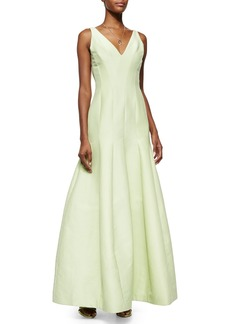Halston Heritage Sleeveless V-Neck Mermaid Gown