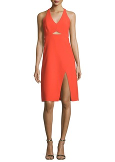 Halston Heritage Sleeveless V-Neck Sheath Dress