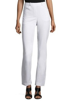 Halston Heritage Slim Boot-Cut Pants with Side Slits