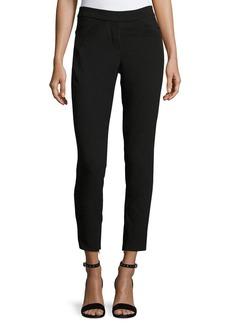 Halston Heritage Slim-Fit Ankle Pants w/ Paneled Waist Detail