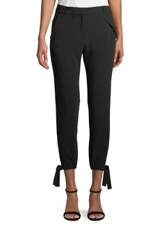 Halston Heritage Slim-Fit Ankle-Tie Pants