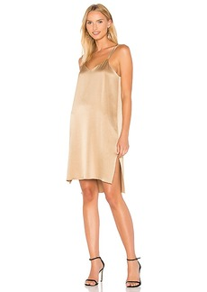 Halston Heritage Slip Dress in Metallic Gold. - size L (also in M,S,XS)