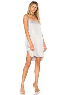 Halston Heritage Slip Dress in Metallic Silver. - size L (also in M,S,XS)